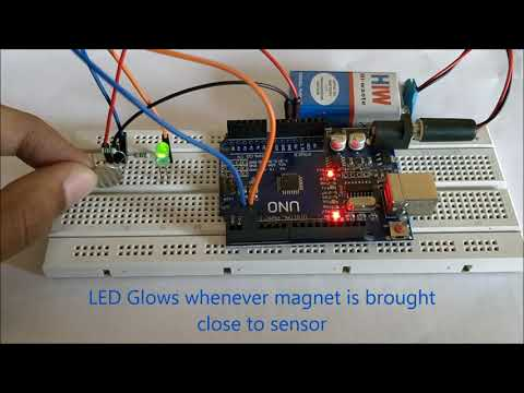 Hall Effect Sensor interfacing with Arduino