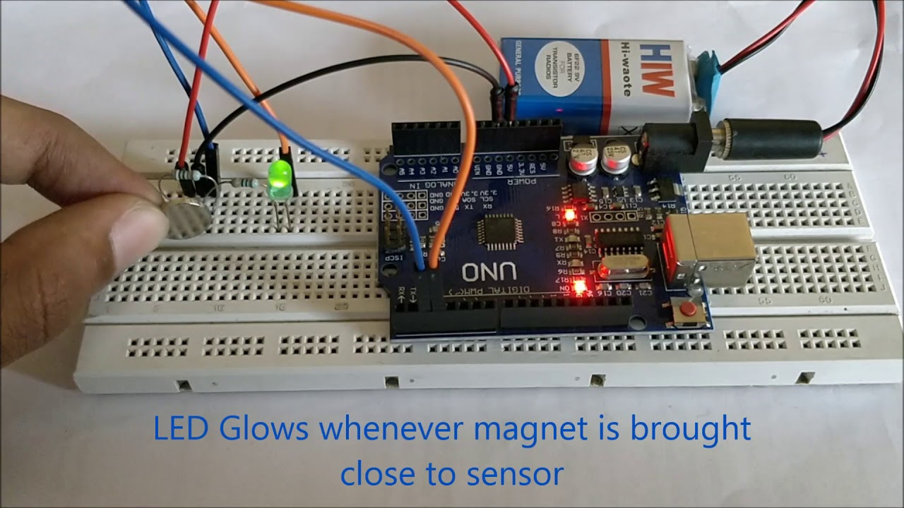 Arduino Hall Effect Sensor Tutorial with Code and Schematic