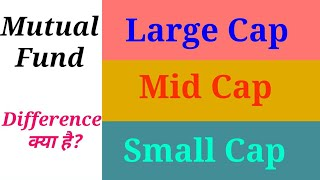 Mutual funds large cap Mid cap and Small cap difference in Hindi