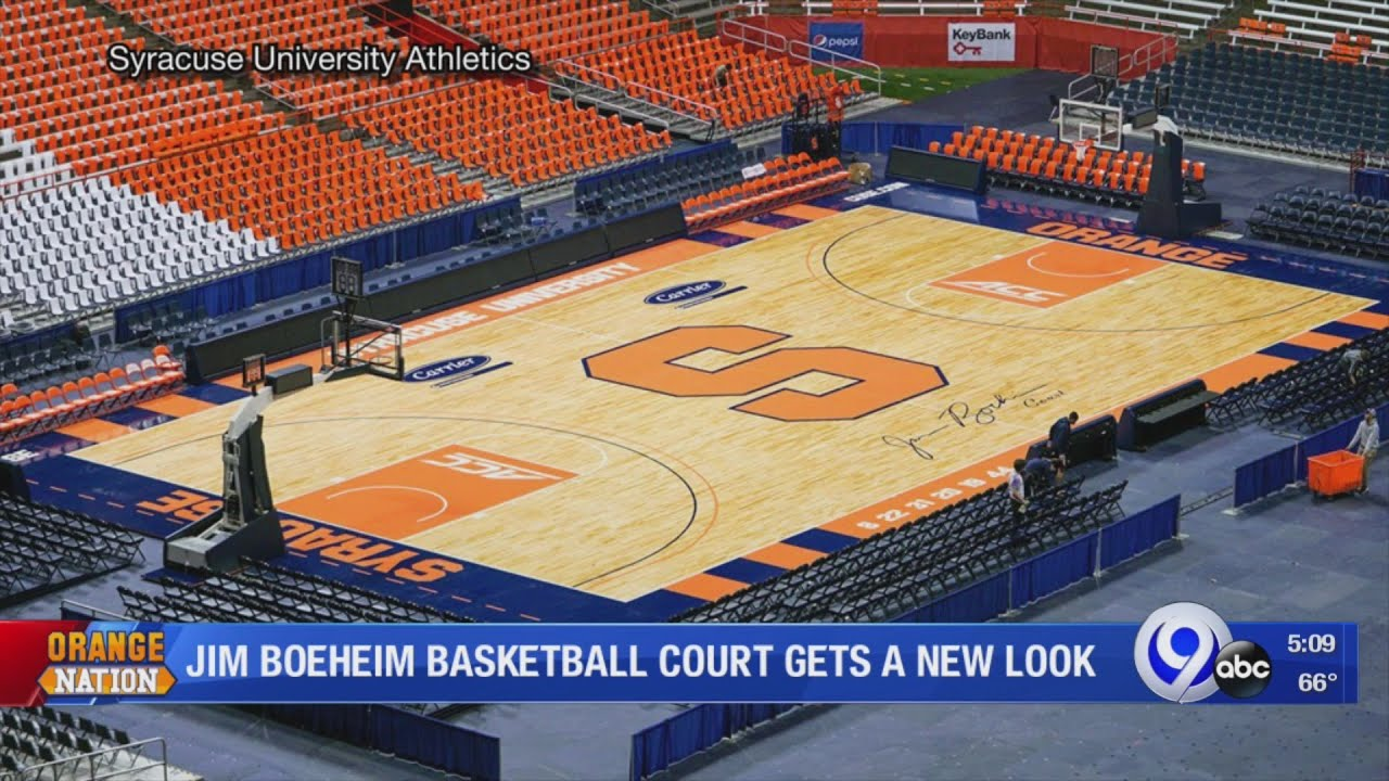 Syracuse University Unveils New Basketball Court In The Carrier Dome