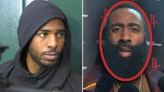 "James Harden Says ""TRADE CHRIS PAUL NOW... HE CANT WIN"" And Chris Paul FIRES BACK"