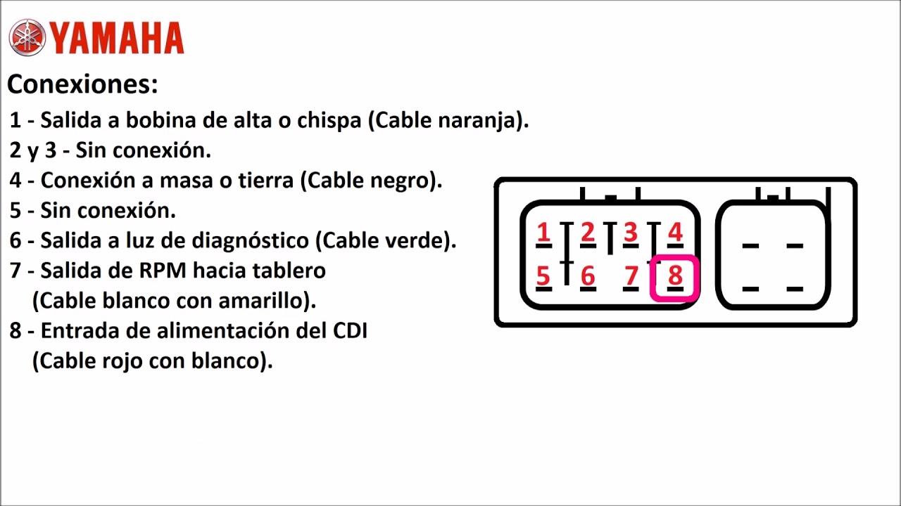 conexiones del cdi de yamaha fz16  hasta el a u00f1o 2011