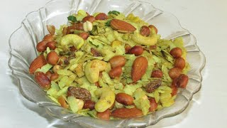 Roasted Poha namkeen recipe in hindi/Poha namkeen