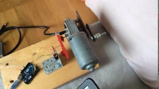 diy servo arduino dc motor  position control