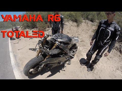 Motorcycle Crash | Yamaha R6 Totaled | Rider air lifted!