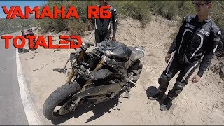 Motorcycle Crash | Yamaha R6 Totaled | Rider air lifted!