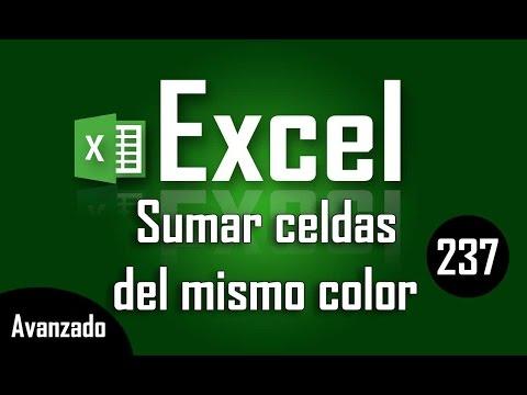 Como sumar celdas con igual color de fondo en Excel - Capítulo 237