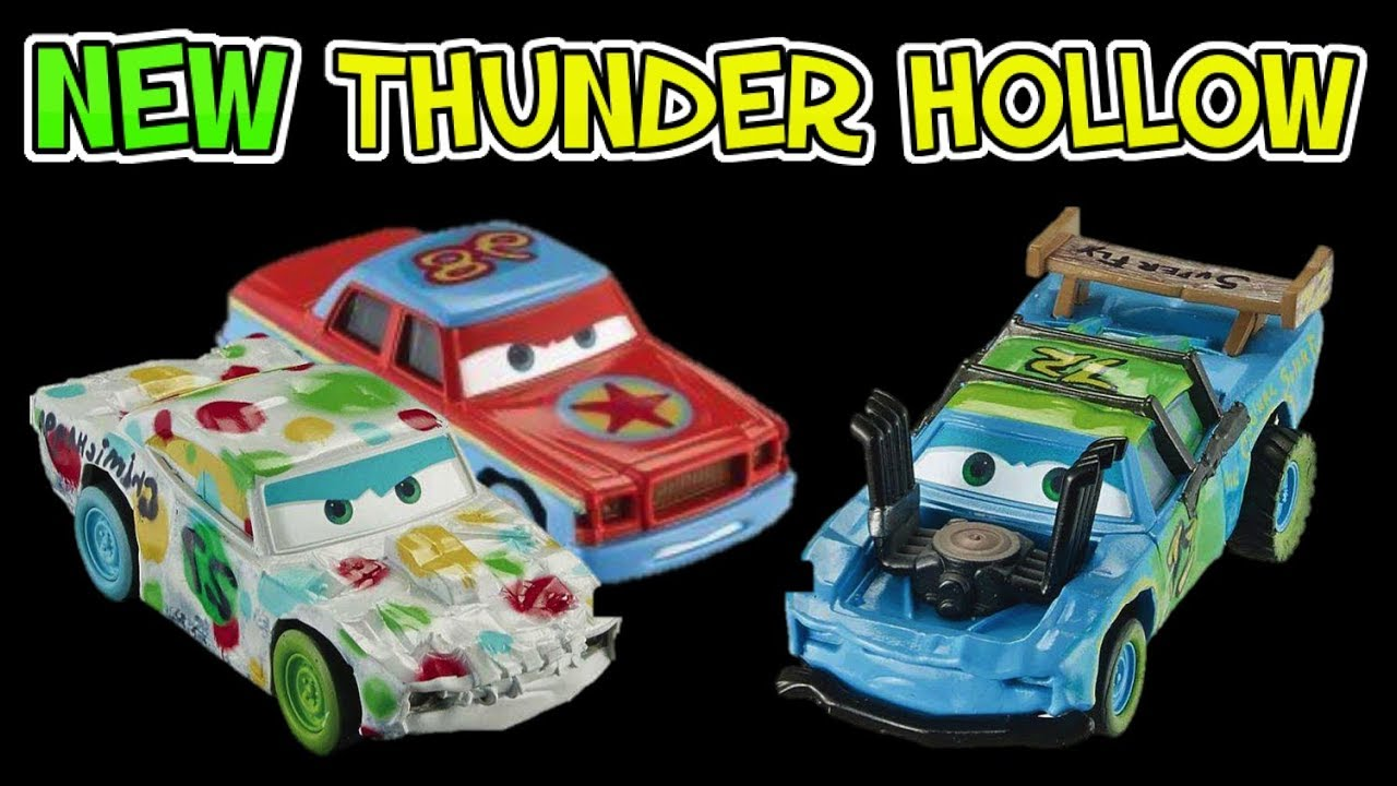 Cars 3 new thunder hollow racers diecasts with accessories mattel cars 3 2017 youtube - Coloriage cars 3 thunder hollow ...