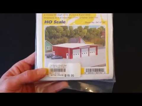 Pikestuff Fire Station HO Building Kit Review