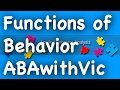 Functions of Behavior -  ABAwithVic