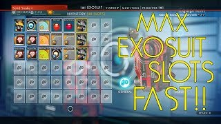 How to Get Max Exo Suit Slots and Make MILLIONS of Units | No Mans Sky