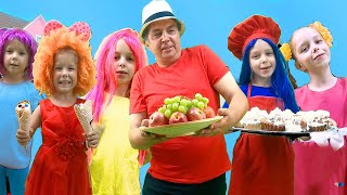 The Muffin Man | Kids Songs and Nursery Rhymes with Lina and Arina