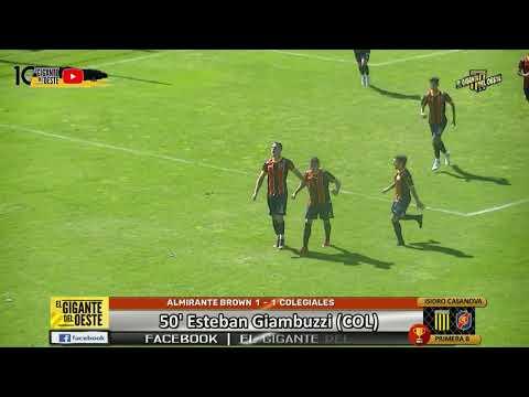 ALMIRANTE BROWN 2 - 1 COLEGIALES | Los goles | www.giganteoeste.blogspot.com