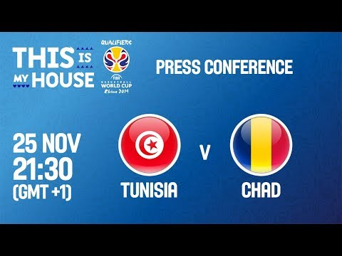 Tunisia v Chad - Press Conference - FIBA Basketball World Cup 2019 - African Qualifiers