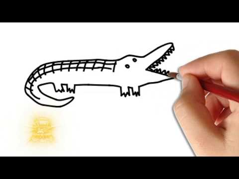 How to Draw A Crocodile Step by Step, Kids Art, Kids Play