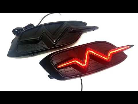 Honda Civic Back Bumper Light Heartbeat Style C LED