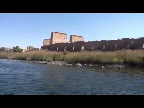 THE  ROAD To PHILAE TEMPLE  ACROSS The RIVER NILE   ASWAN EGYPT.      الطريق الي معبد