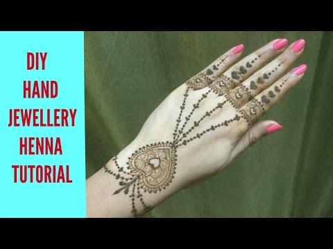 Easy Hearts Shaped Hand Jewellery Inspired Henna/Mehandi Design Tutorial