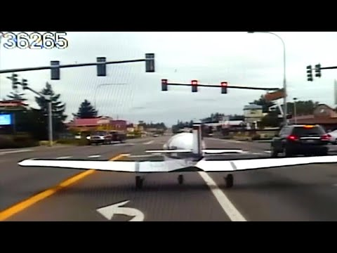 Plane Makes Insane Emergency Landing on Busy Road
