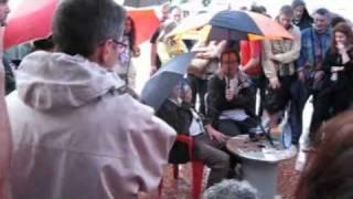 Arcadi Oliveres - fons de pensions - Plaça Catalunya 7-6-2011
