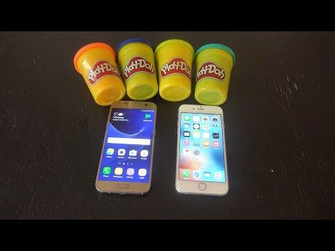 Samsung Galaxy S7 vs. iPhone 6S Play-Doh Fingerprint Scan Test - Will It Work?