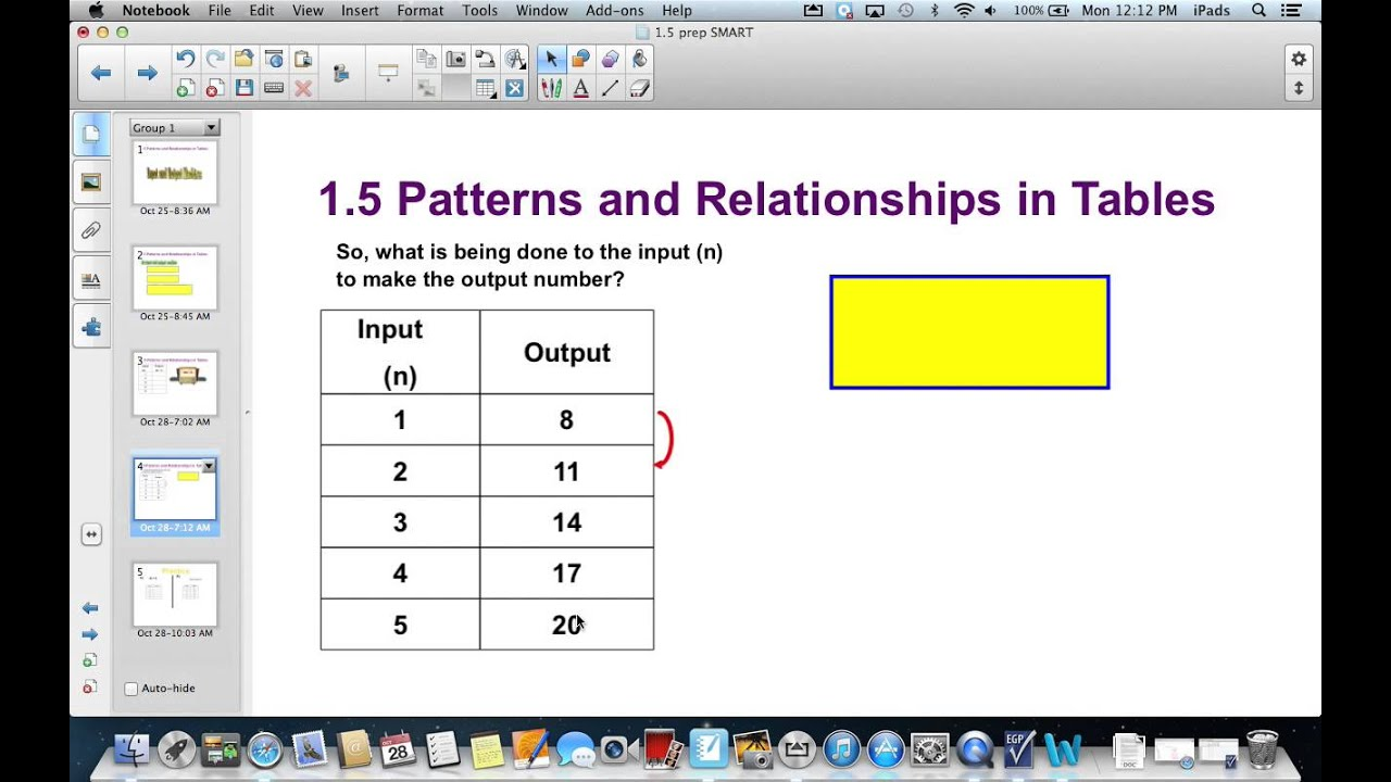 15 patterns and relationships in tables youtube 15 patterns and relationships in tables gamestrikefo Choice Image