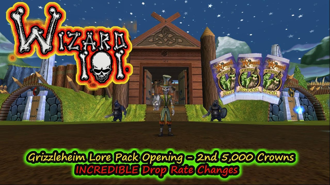 Wizard101 GrizzleHeim Lore Pack 2 - Incredible Drop Rate Changes