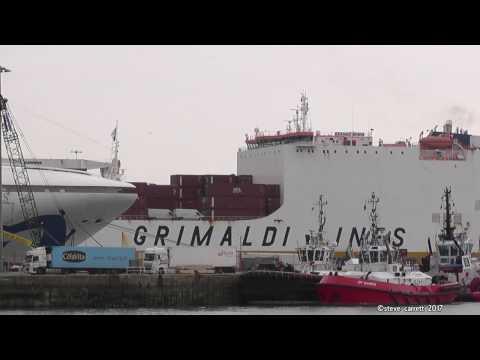 Grande Scandinavia and Benin arrive Southampton Docks 20/4/17