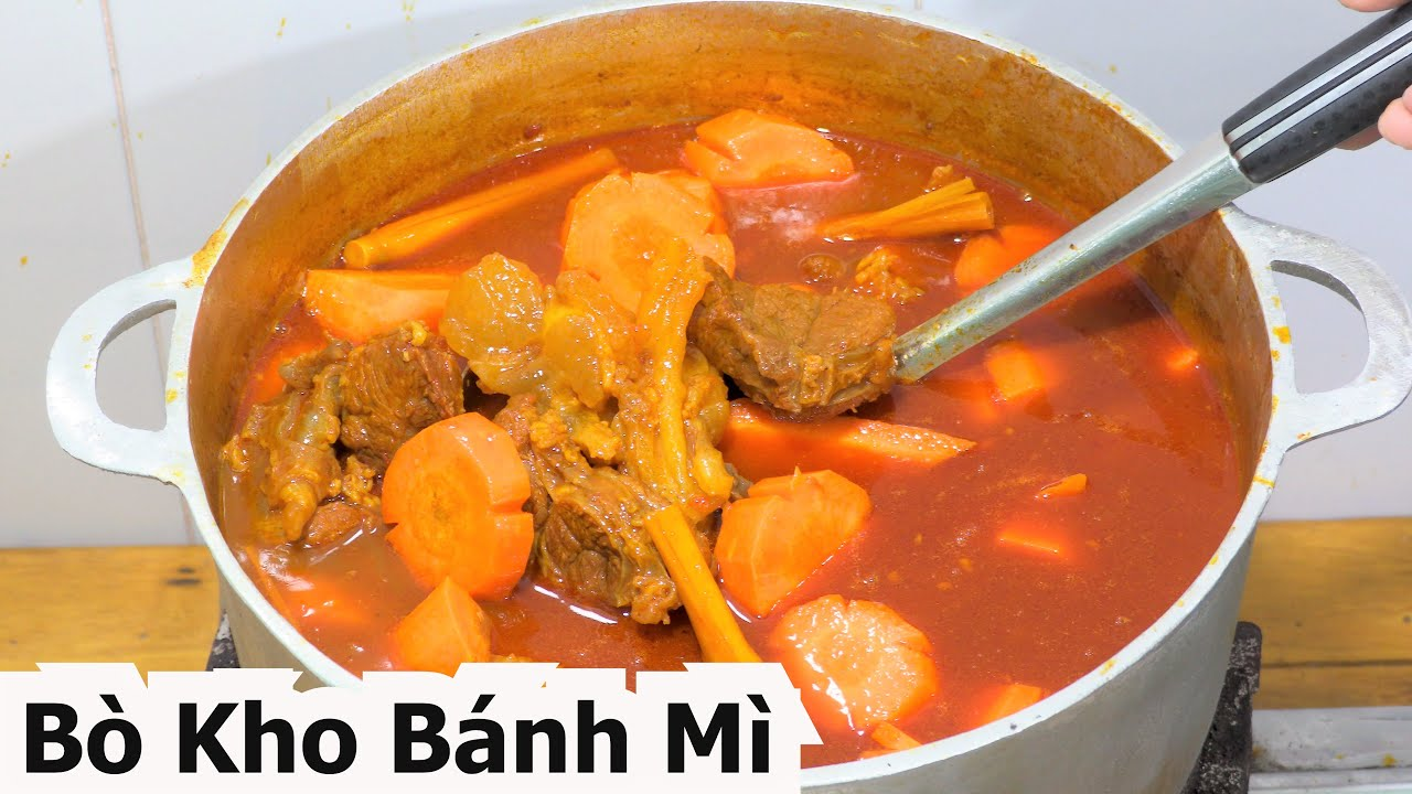 BÒ KHO Cách Nấu Bò kho món Ngon Miền Tây… Beef stew bread Vietnamese Food nqmt Cook.
