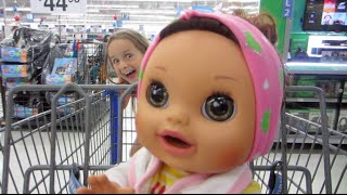 Shopping With Baby Alive Real Surprises Pees and Poops Baby Doll