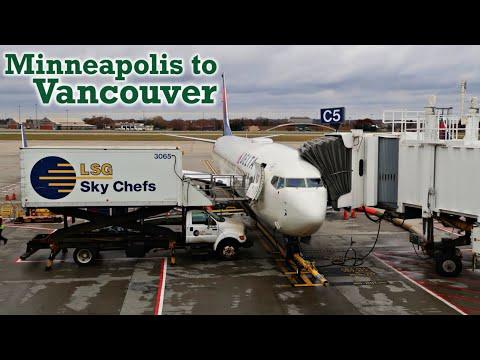 Full Flight: Delta Air Lines B737-900ER Minneapolis To Vancouver (MSP-YVR)