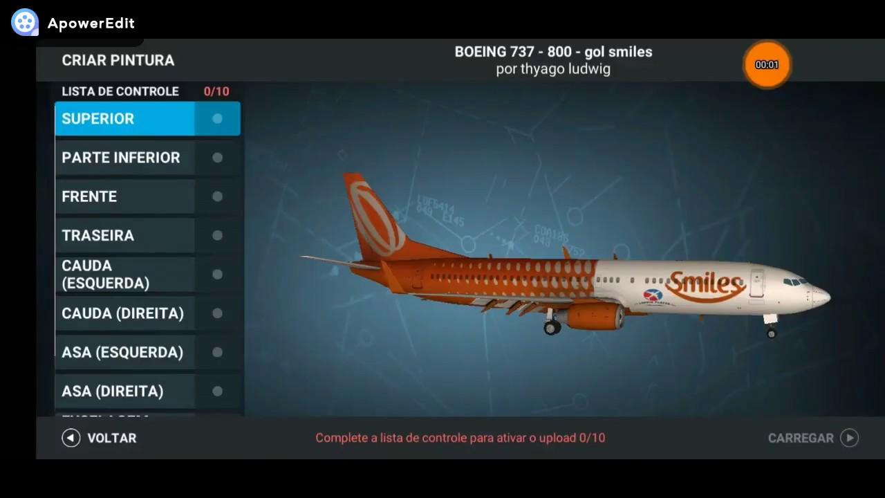 real flight simulator - new liverys GOL SMILES / AZUL OUTUBRO ROSA- RFS  0 8 4