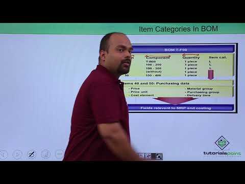 SAP PP - Item Categories