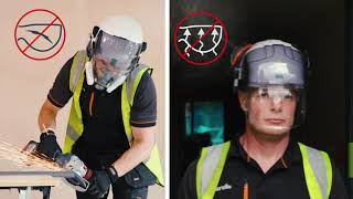 EVO® Vista® Range by JSP - Industrial Safety Helmets with Integrated Eye Protection