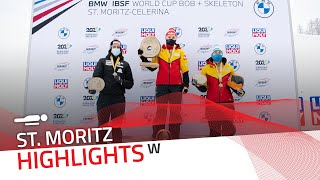 Tina Hermann stood at the top of the podium | IBSF Official