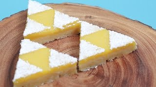 ZELDA TRIFORCE LEMON BARS - NERDY NUMMIES