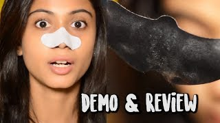 charcoal Nose Mask - Blackheads Removal Strip Demo  Review!  Sush Dazzles