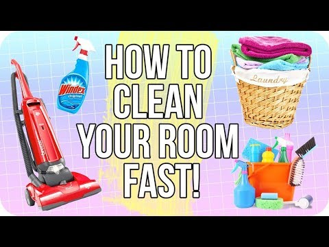 How to Clean Your Room in 10 MINUTES!!   FAST and EASY Life Hacks for a Clean Room!