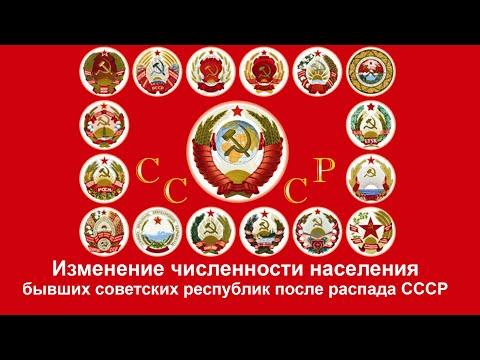 Как изменилась численность населения советских республик после распада СССР