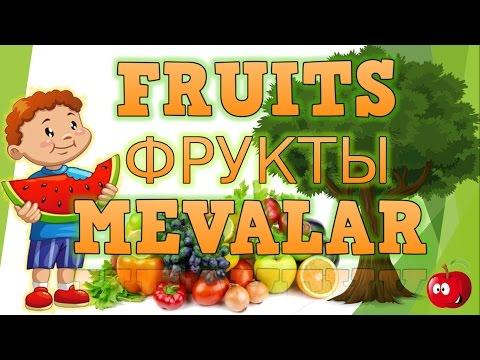 Ingliz tili mevalar aytilishini o'rganish /Fruits name/Название фруктов