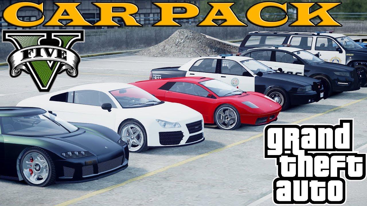GTA 5 CARS PACK FOR GTA 4