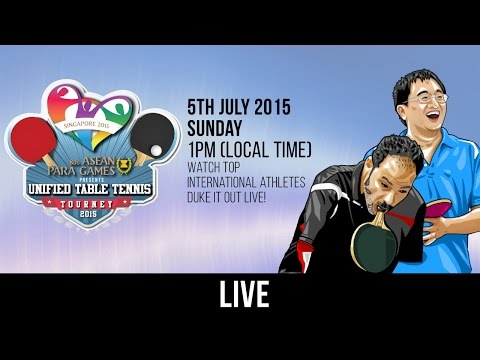 8th ASEAN Para Games Presents: Unified Table Tennis Tourney 2015 (Day 2)
