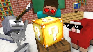 Monster School : OPENING LUCKY BLOCK Challenge - Minecraft Animation