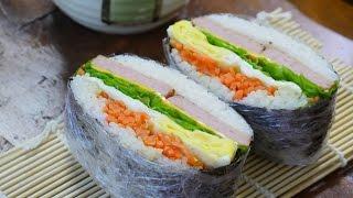 김밥보다 쉬운 [오니기라즈만들기 : rice sandwich] 밥버거 [우미스쿠킹 : 그녀의요리]