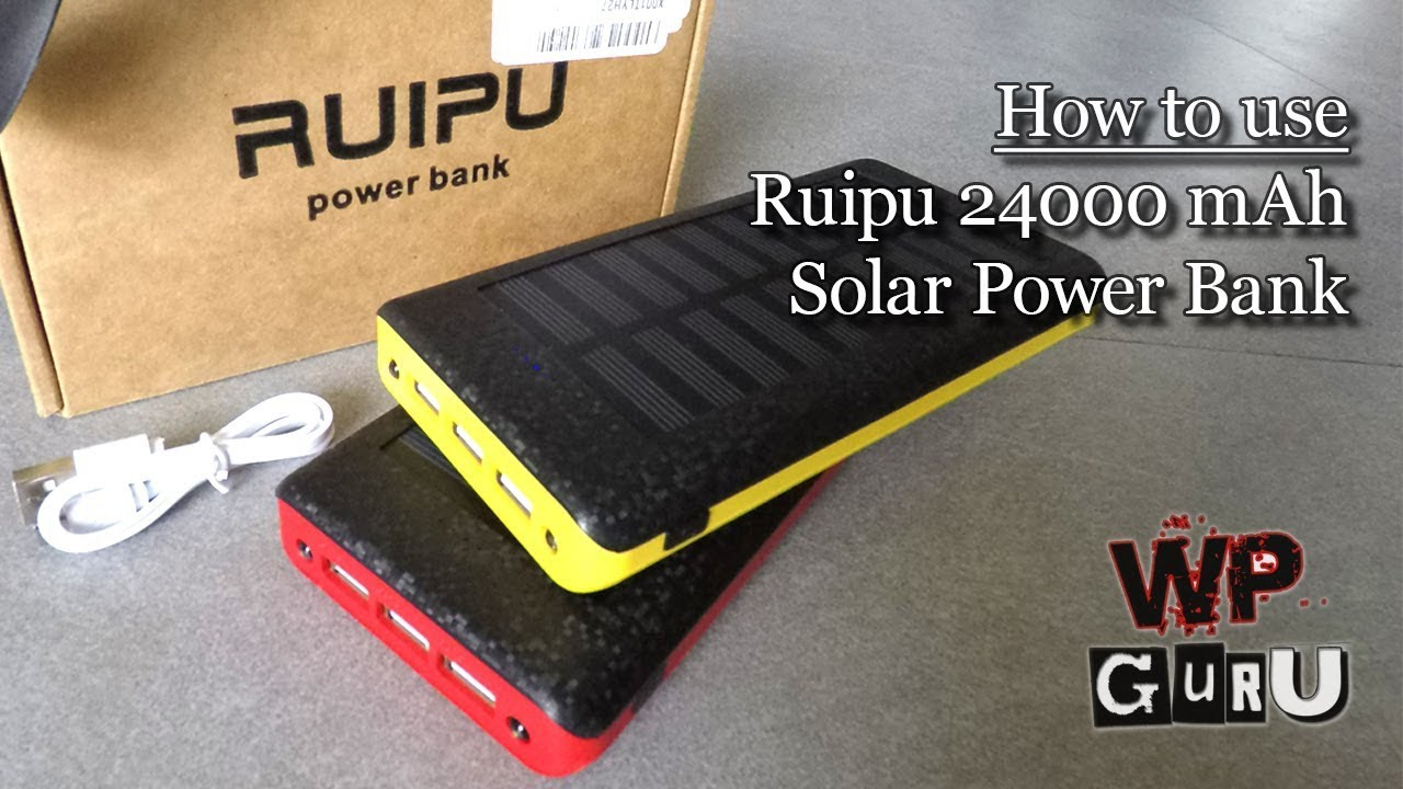 Ruipu Power Bank Review: 24000 mA⋅h with Solar Panels (and