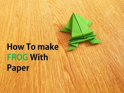How to make Jumping frog from paper, 5 minutes crafts