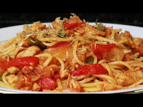 Espaguetis con verduras - Pasta con verduras