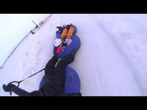 Extreme and crazy Snow tubing at Adrenaline Adventures Winnipeg