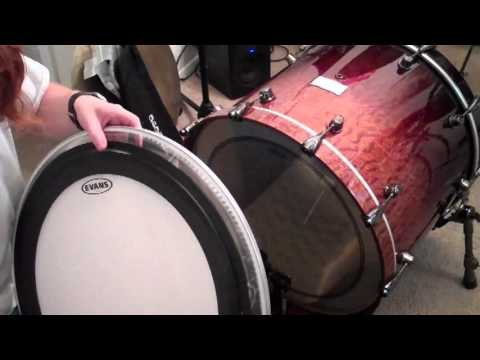 review of evans emad bass drum head youtube. Black Bedroom Furniture Sets. Home Design Ideas