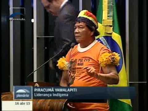 Piracumã Yawalapiti denuncia alterações climáticas no Xingu causadas pelo desmatamento